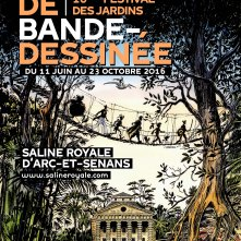 Affiche du Festival des jardins 2016 réalisée par Jacques Ferrandez