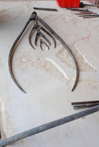 Quelques outils du tailleur de pierre