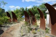 Structures en acier réalisées par l'équipe jardins de la Saline
